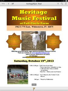 Heritage Music Festival Flyer